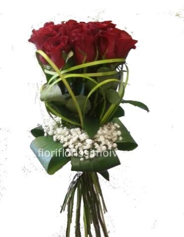 Mazzo Di Fiori A Domicilio.Mazzo Di Rose Rosse Florissimo Fiori A Ivrea Consegna Fiori
